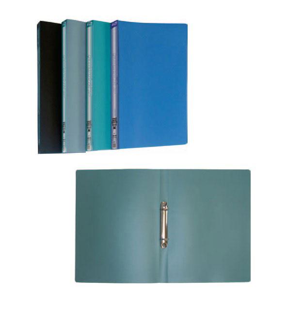 Папка А4 25мм. 2кольца, пластик, ассорт. 4Office - фото 2