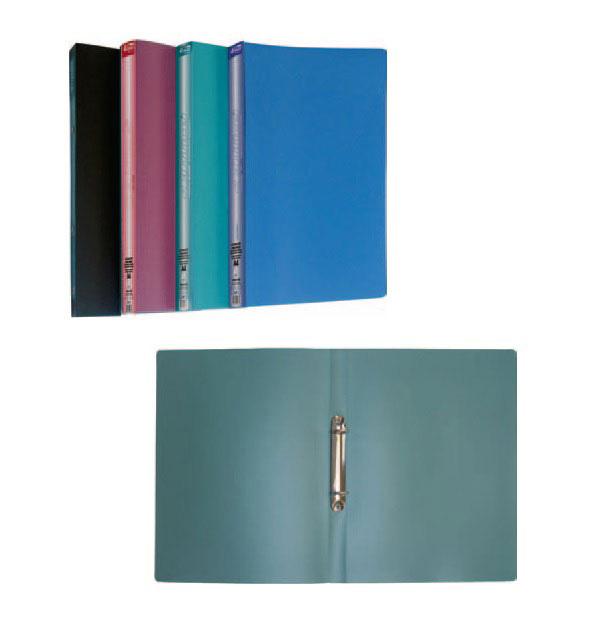 Папка А4 25мм. 2кольца, пластик, ассорт. 4Office - фото 3