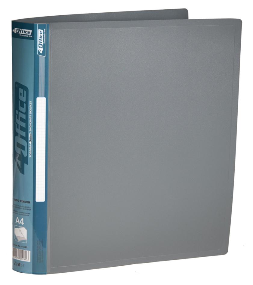 Папка А4 25мм. 2кольца, пластик, ассорт. 4Office - фото 4