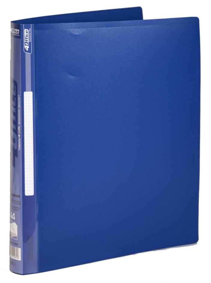 Папка А4 25мм. 2кольца, пластик, ассорт. 4Office - фото 5