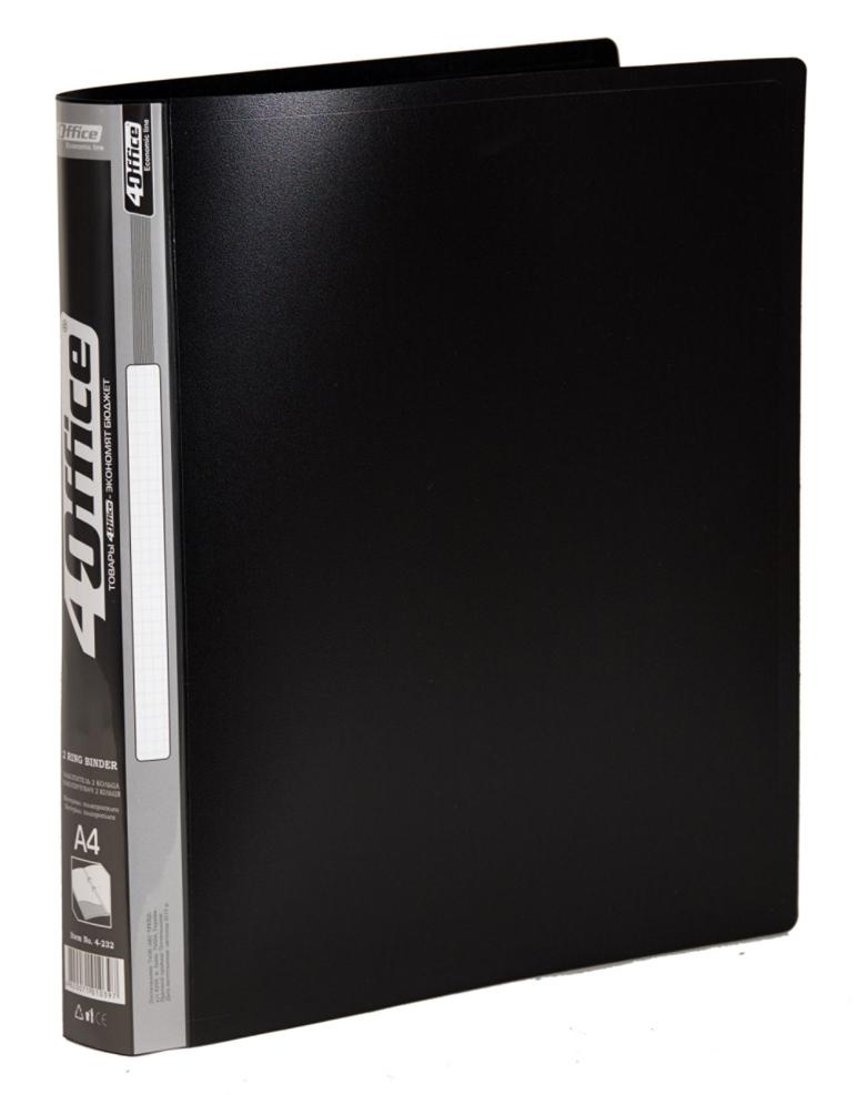 Папка А4 25мм. 2кольца, пластик, ассорт. 4Office - фото 6