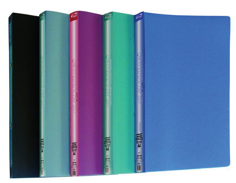 Папка А4 25мм. 2кольца, пластик, ассорт. 4Office - фото 7