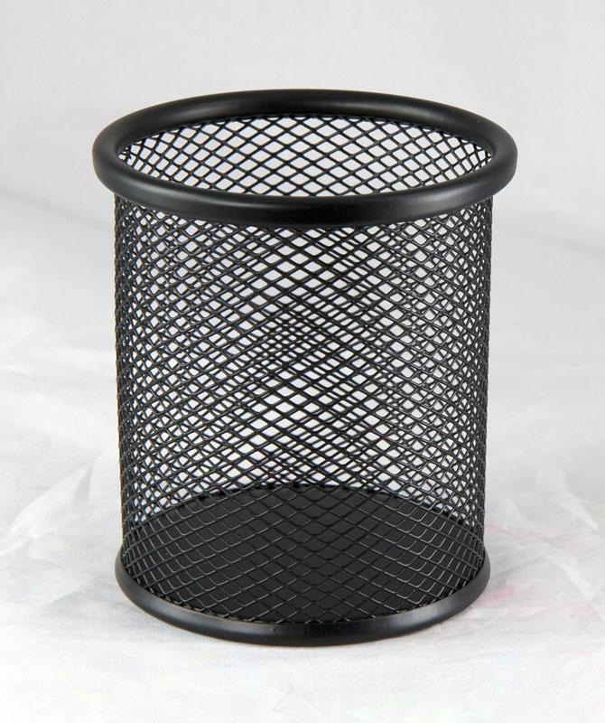Подставка для ручек металлическая перфорированная, черн. BuroMax - фото 1