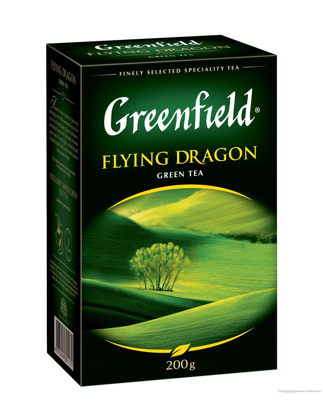 Чай зеленый классический Flying Dragon 200гр. Greenfield - фото 1