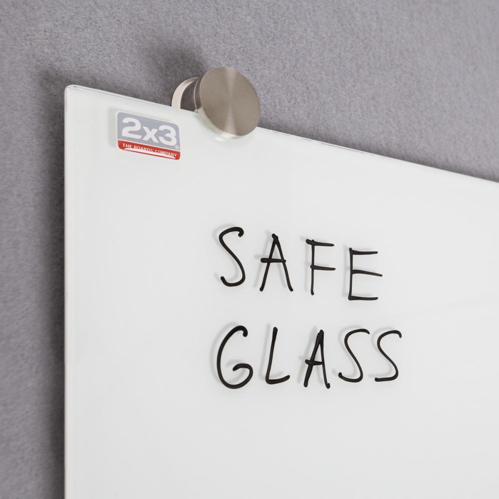 Доска стеклянная магнитная 45*45см., бел. 2x3 - фото 4