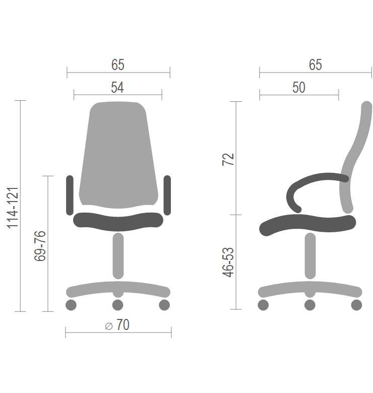 Кресло для руководителя Оран CH ANF экокожа, коричн. АКЛАС - фото 4