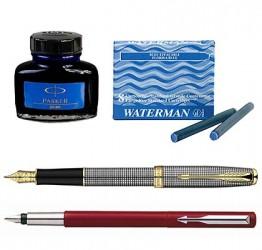 Ручки пір'яні, картріджі та чорнила