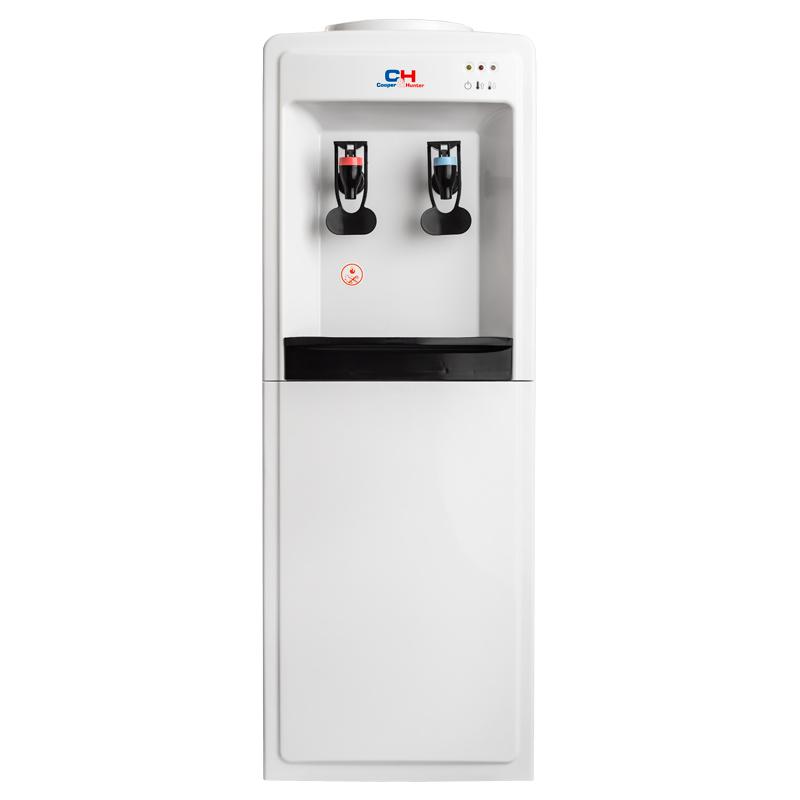 Кулер для воды напольный CLASSIC (V118) CH-V128EB, белый с черными вставками