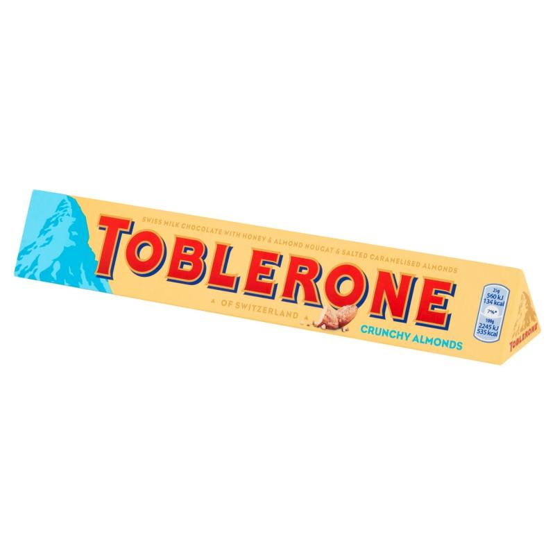 Шоколад Тоблерон в молочном шоколаде с хрустящим миндалем, 100г. Toblerone - фото 1