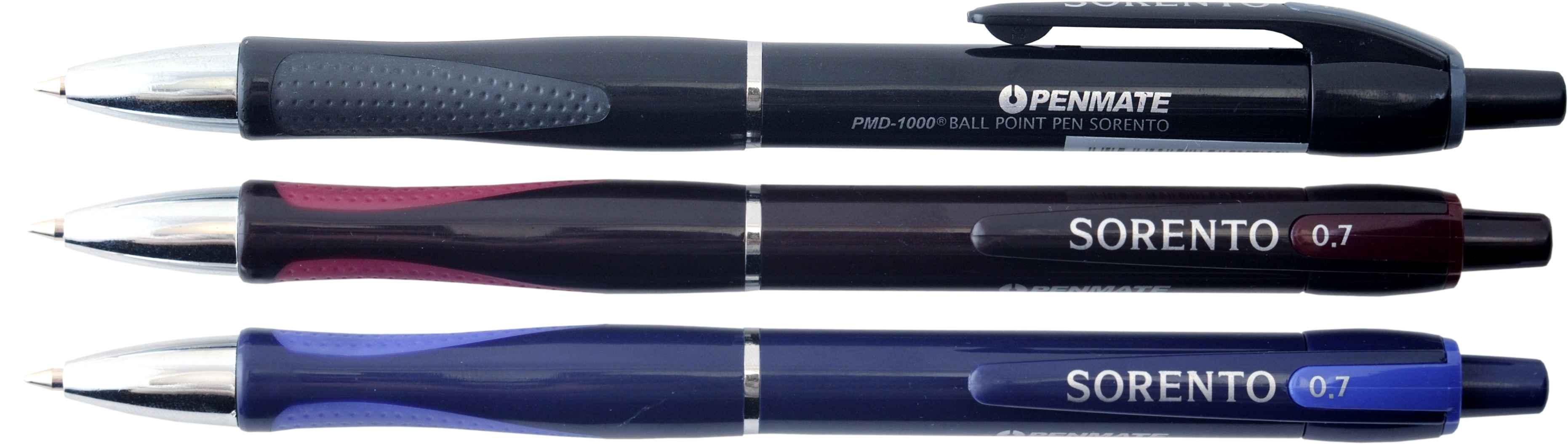 Ручка шариковая автоматическая SORENTO, стержень син., цвет корпуса ассорт.