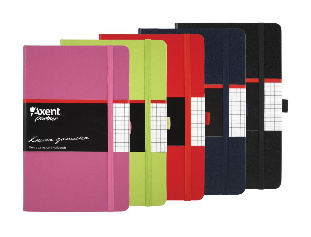 Книга записная Partner А5, 96л., кл., пурпур. Axent - фото 2