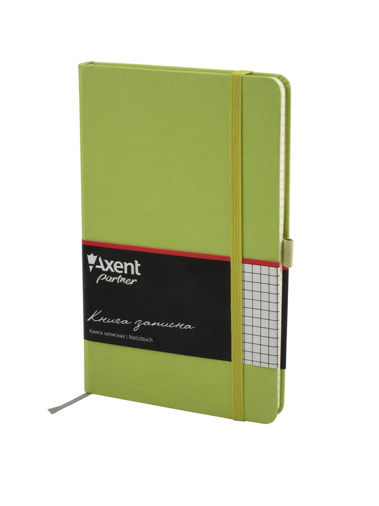 Книга записная Partner А5, 96л., кл., салат. Axent - фото 1