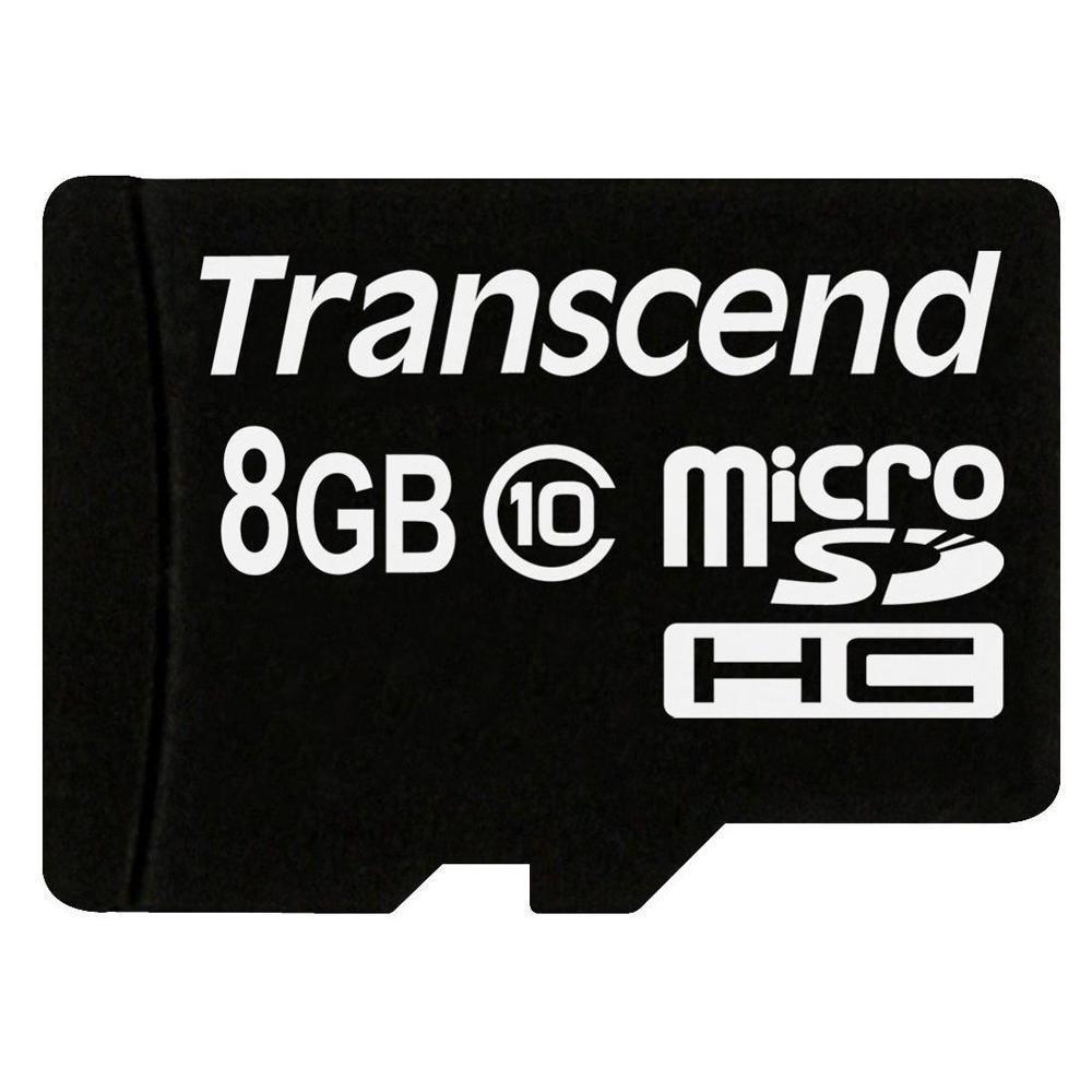 Карта памяти microSDHC 8Gb card Class 10 (SD 2.0) TRANSCEND - фото 1