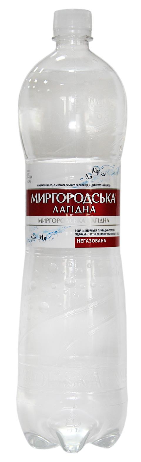 Вода минеральная негазированная Лагидна 0,5л., 12шт./уп., пластиковая бутылка Миргородская - фото 1