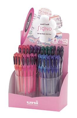 Гелевая ручка Uni-ball Signo Angelic Color, 0,7мм., корпус прозр., стержень син. Uni - фото 2