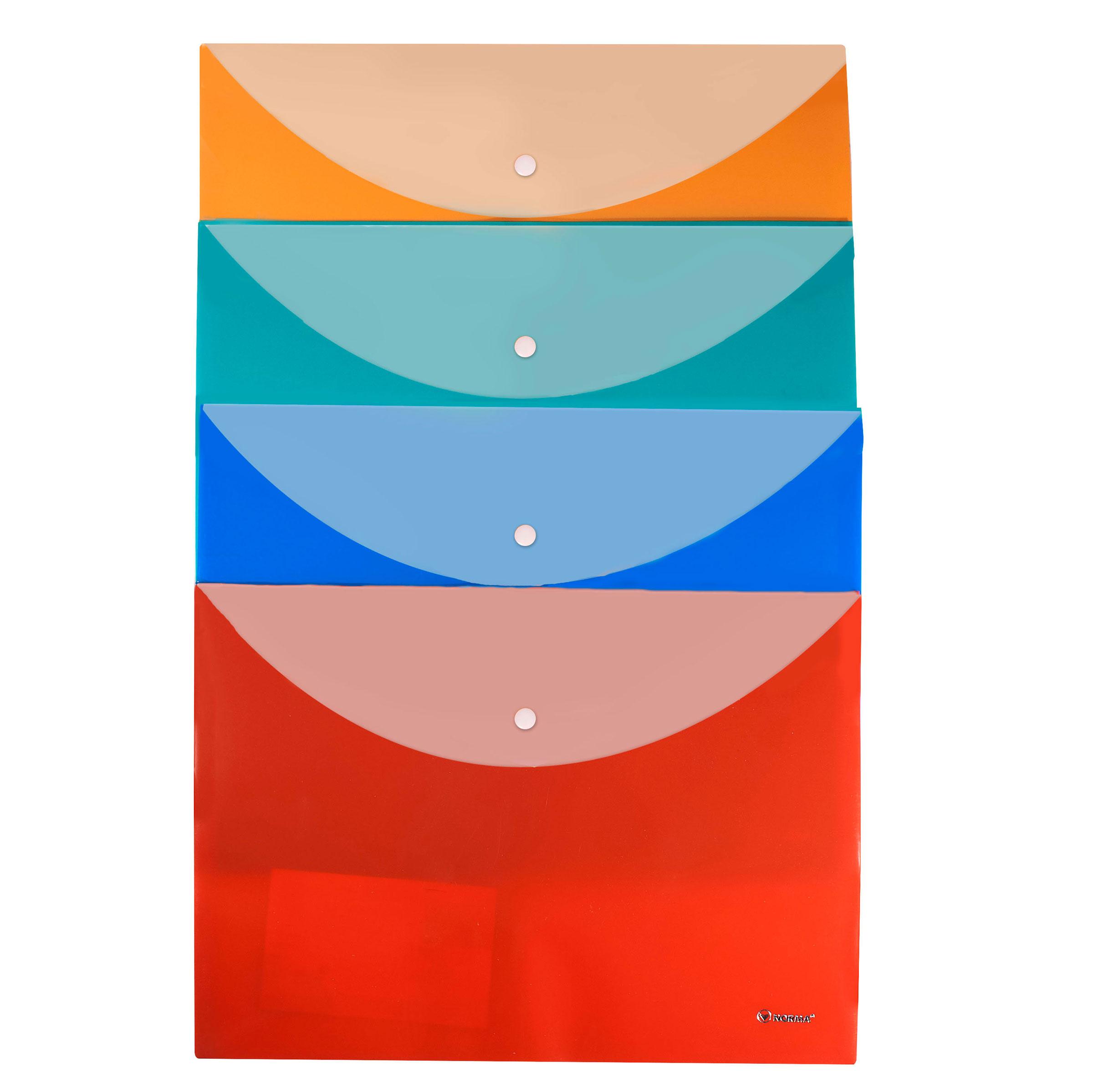 Папка-конверт на кнопке А4, Pastel, 160мкм., ассорт. NORMA - фото 1