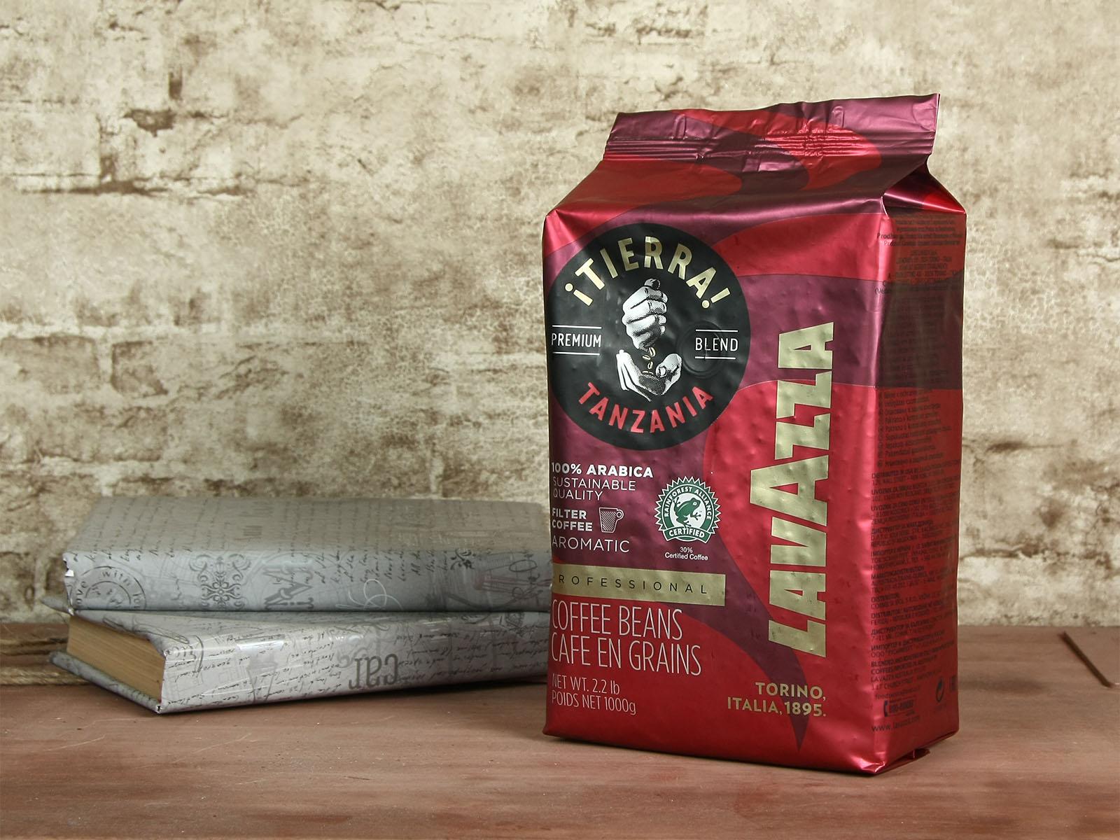 Кофе в зернах Tierra Tanzania Blend Aromatic Arabica 100%, 1000г., арабика Lavazza - фото 1