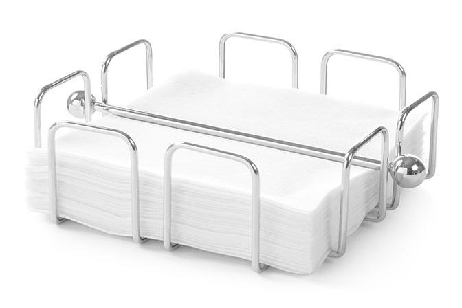 Подставка для салфеток стальная горизонтальная