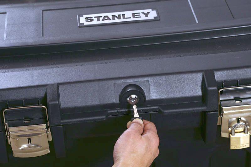 Ящик для инструмента MOBILE JOB CHEST пластиковый с колесами STANLEY - фото 6