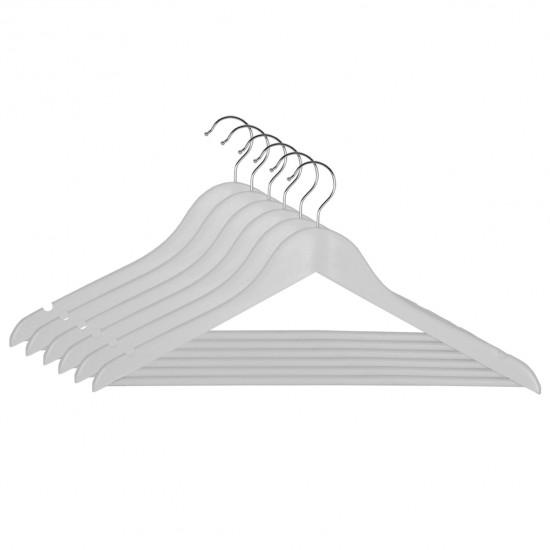 Вешалка деревянная для одежды Everyday, с перекладиной, 44,5см. х 1,2см. х 23см., бел. Китай - фото 2