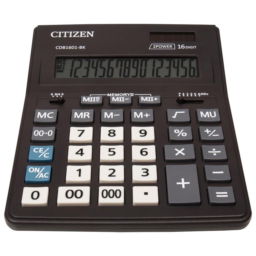 Калькулятор CDB1601-BK 14 разрядов, 205х155х35мм., черн. Citizen - фото 2
