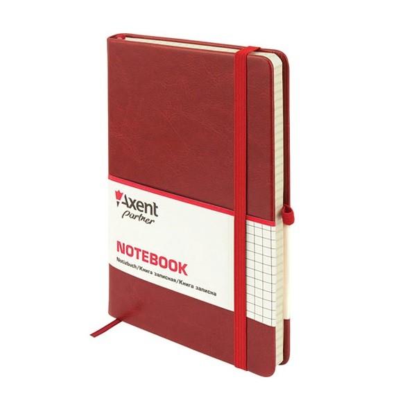Книга записная Partner Lux А5, 96л., кл., бордо Axent - фото 1
