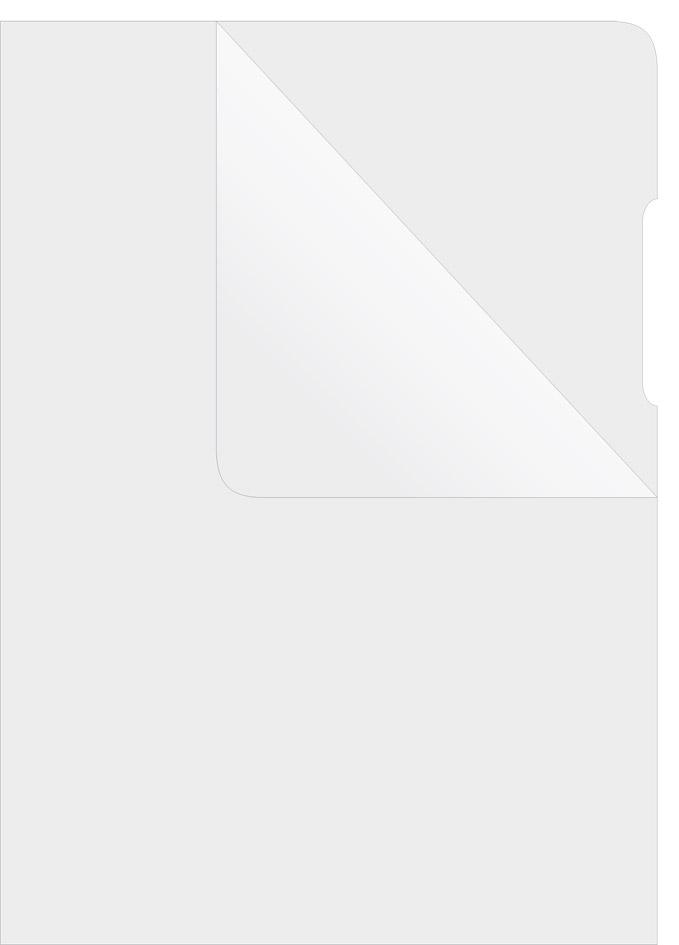 Папка-уголок глянцевая 180мкм., 100шт./уп., зелен.