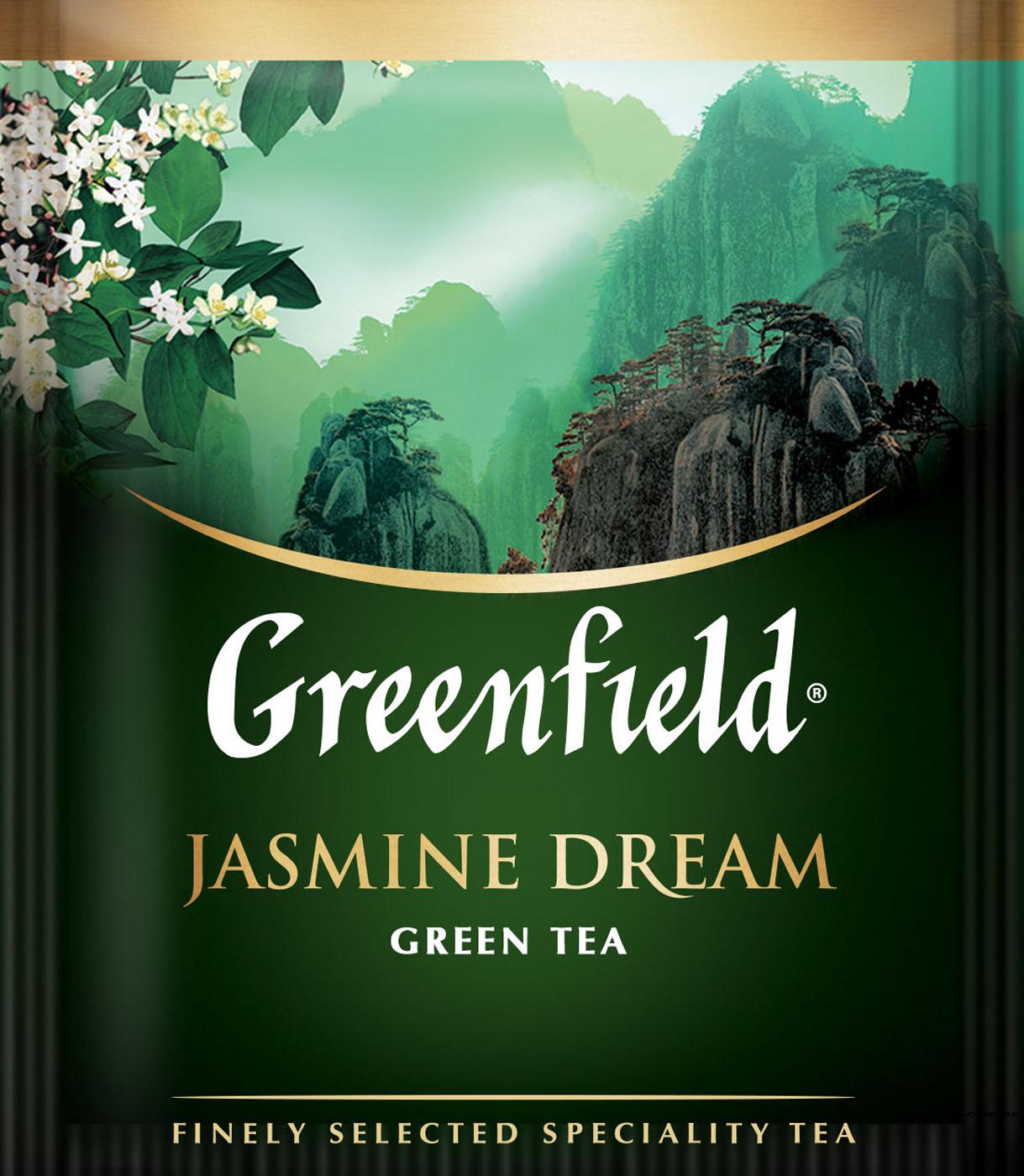 Чай зеленый классический Jasmin Dream 25пак. по 2гр., термосаше Greenfield - фото 1