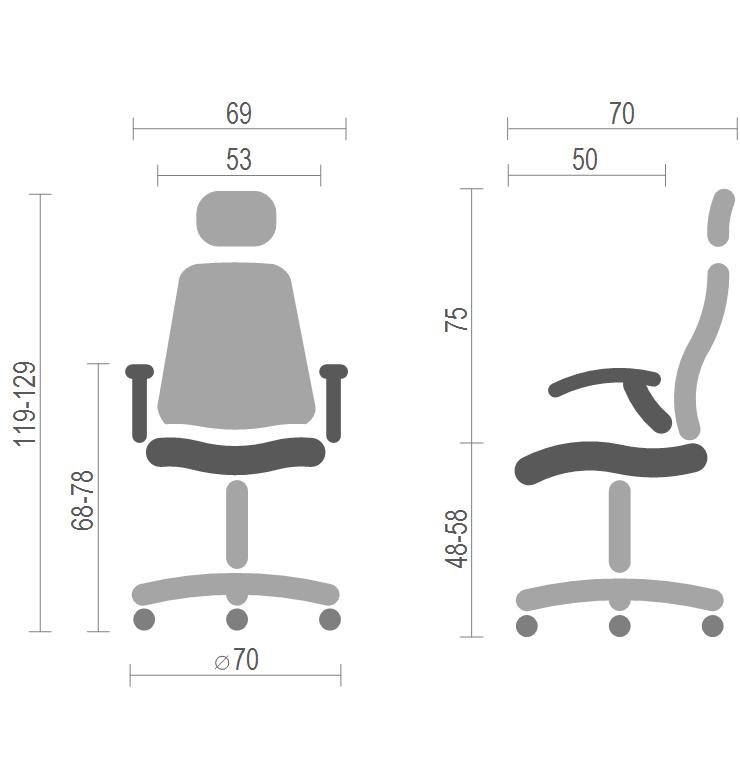 Кресло для персонала Винд PL TILT, красн. АКЛАС - фото 4