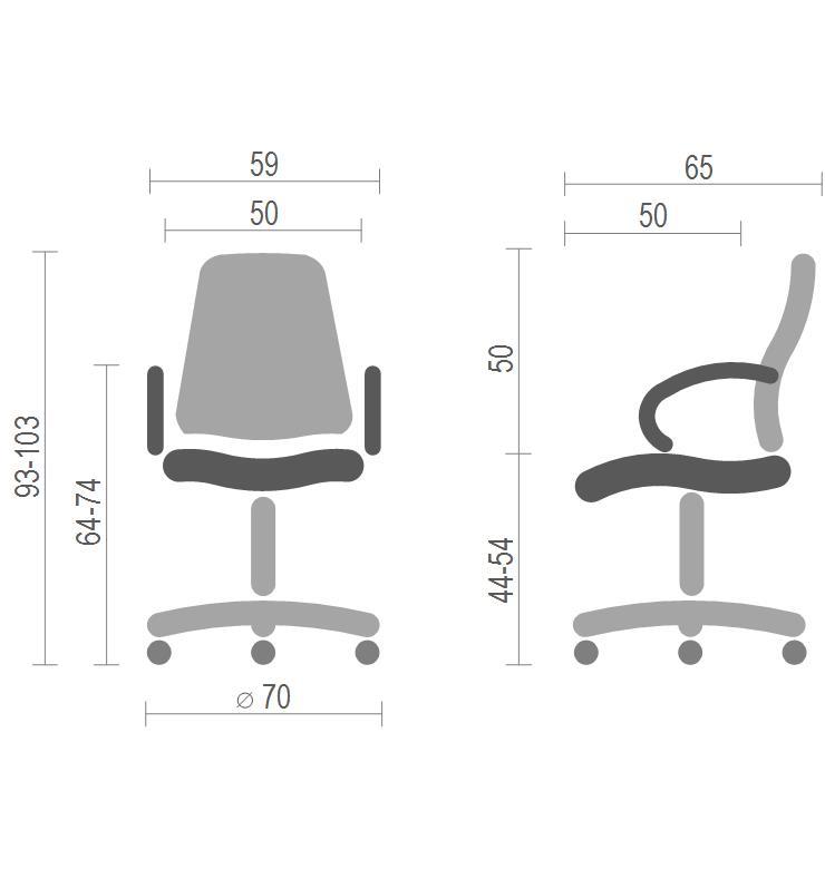 Кресло для персонала Ларк CH PR, сер. АКЛАС - фото 4