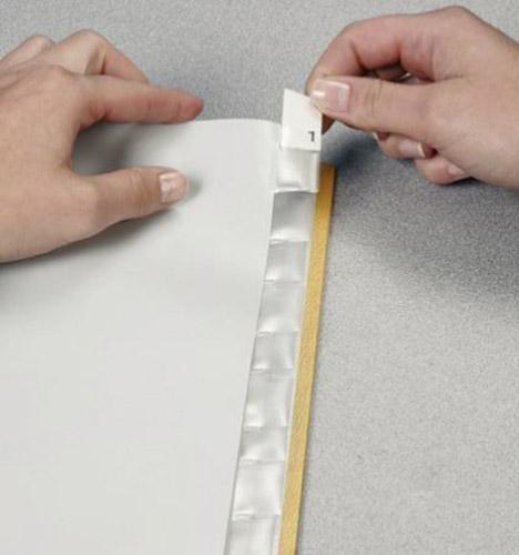 Разделитель страниц 12 страниц со сменными этикетками пластик. сер. LEITZ - фото 3