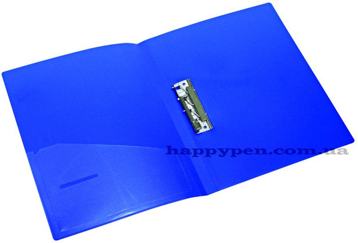 Папка с боковым прижимом А4, 20мм., пластик, син. NORMA - фото 3