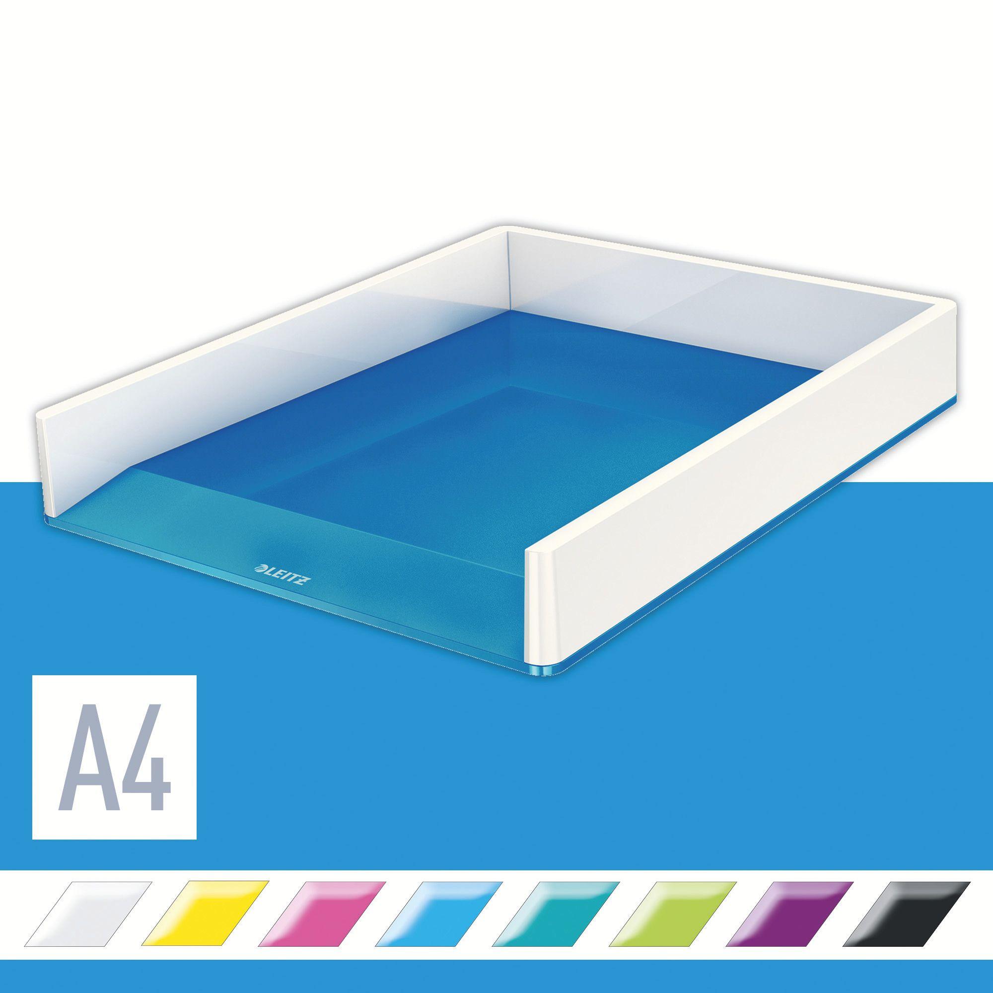 Лоток горизонтальный Wow Duo Colour, металлик, синий LEITZ - фото 2