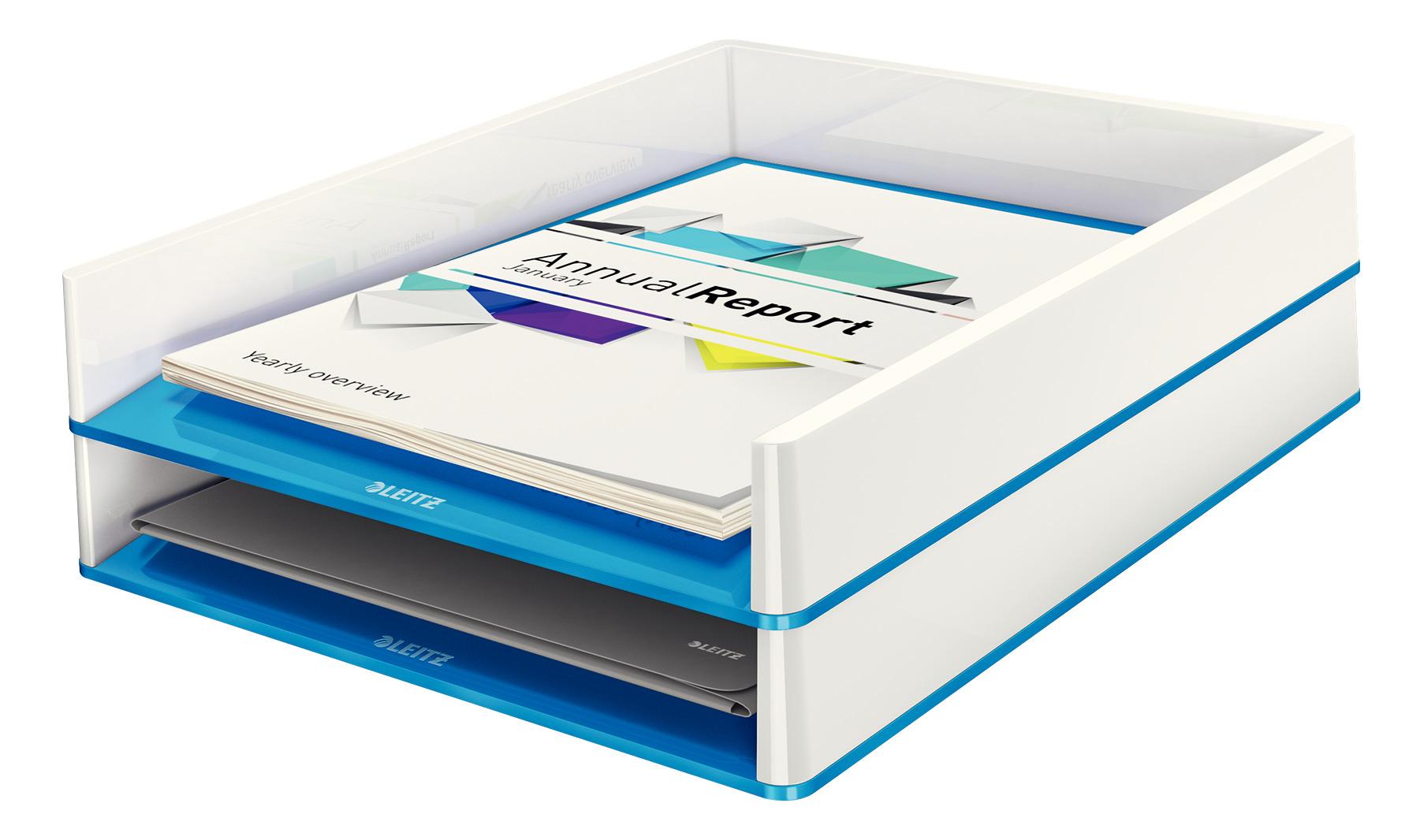Лоток горизонтальный Wow Duo Colour, металлик, синий LEITZ - фото 3