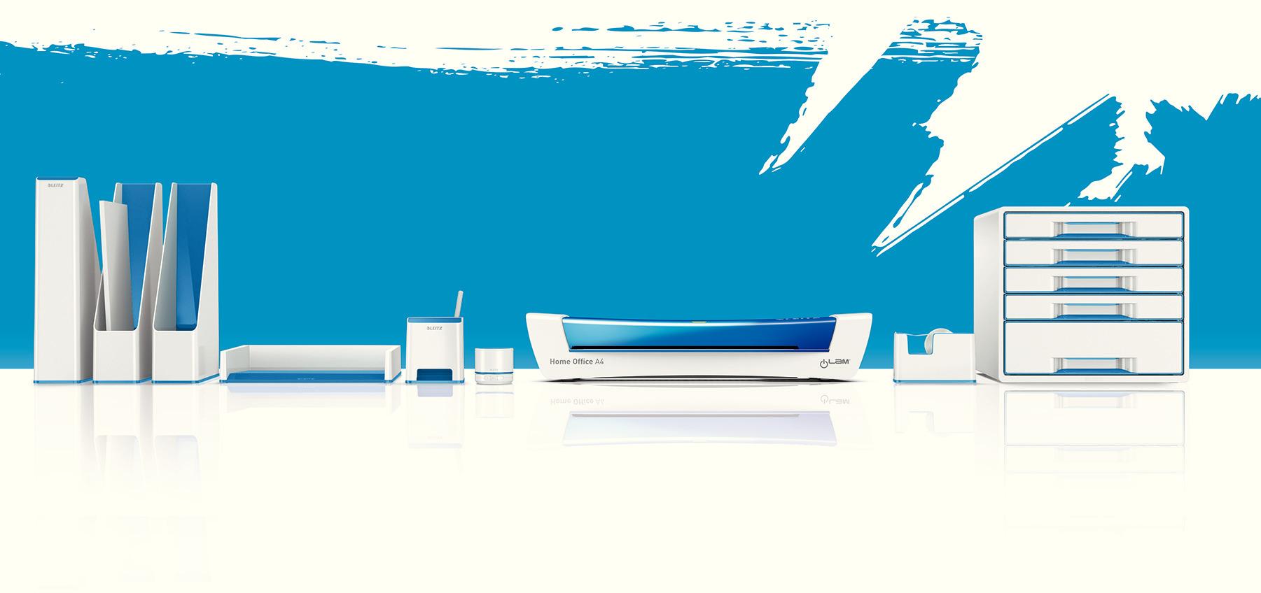 Лоток горизонтальный Wow Duo Colour, металлик, синий LEITZ - фото 7