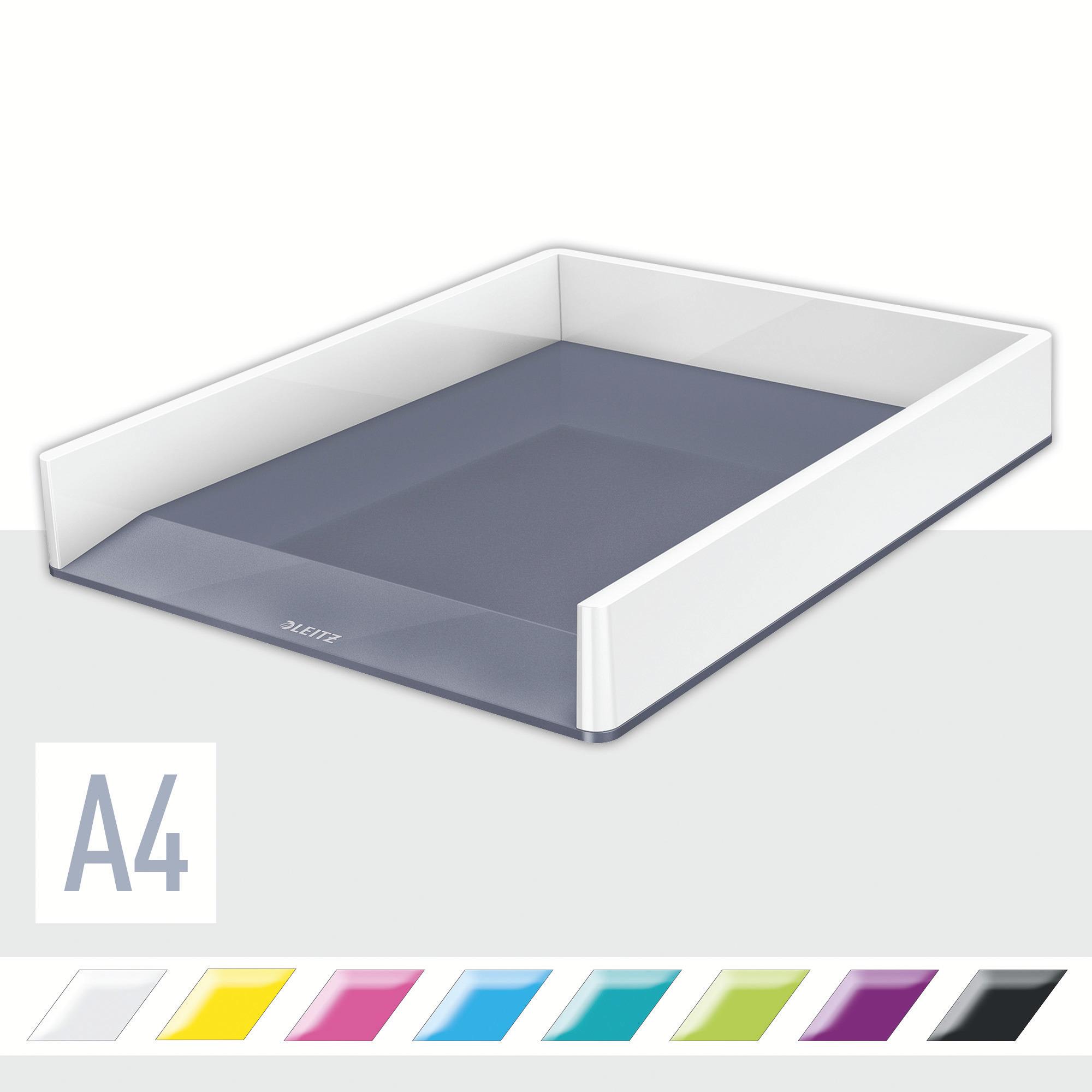 Лоток горизонтальный Wow Duo Colour, белый LEITZ - фото 2