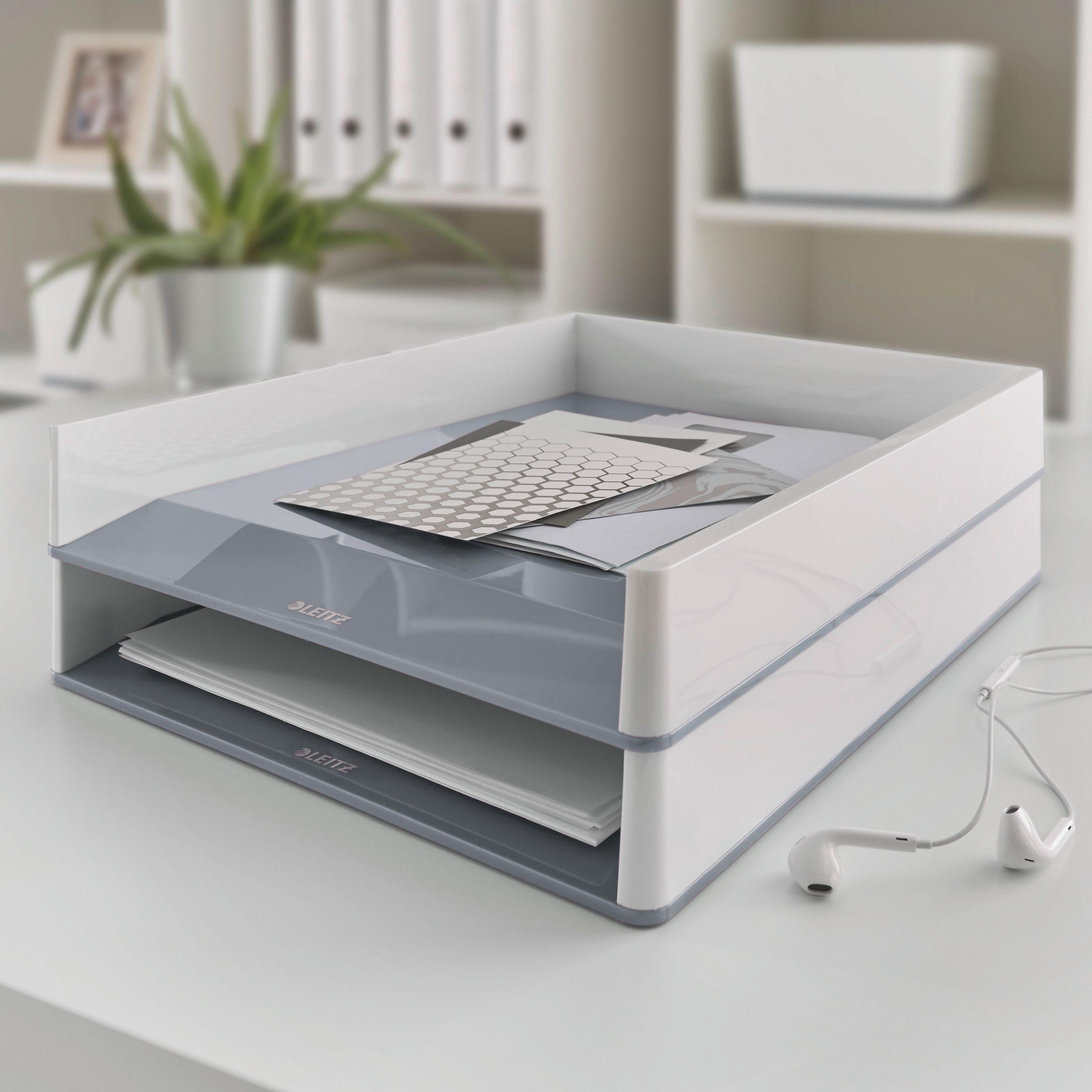 Лоток горизонтальный Wow Duo Colour, белый LEITZ - фото 4