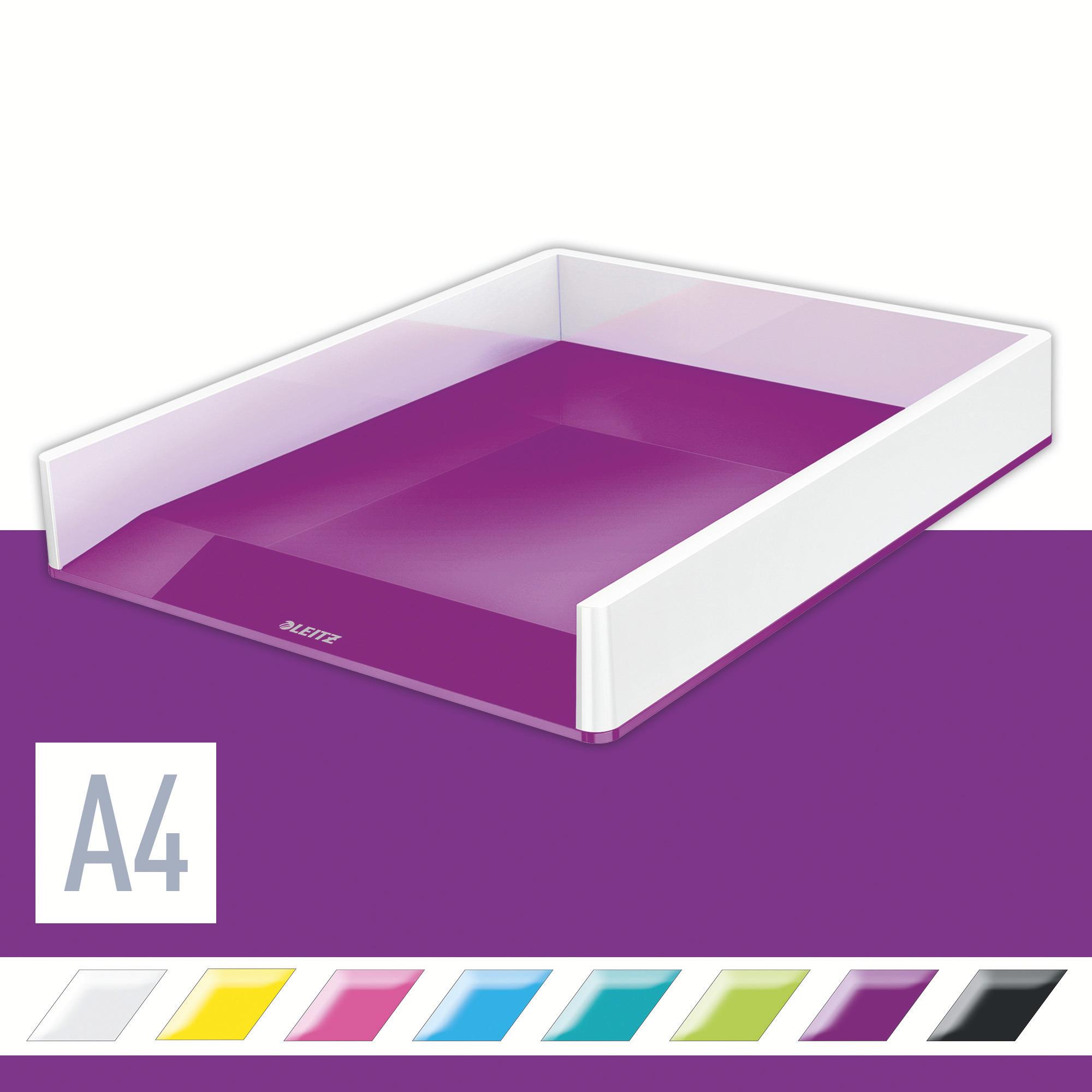 Лоток горизонтальный Wow Duo Colour, метал., фиолет. LEITZ - фото 2