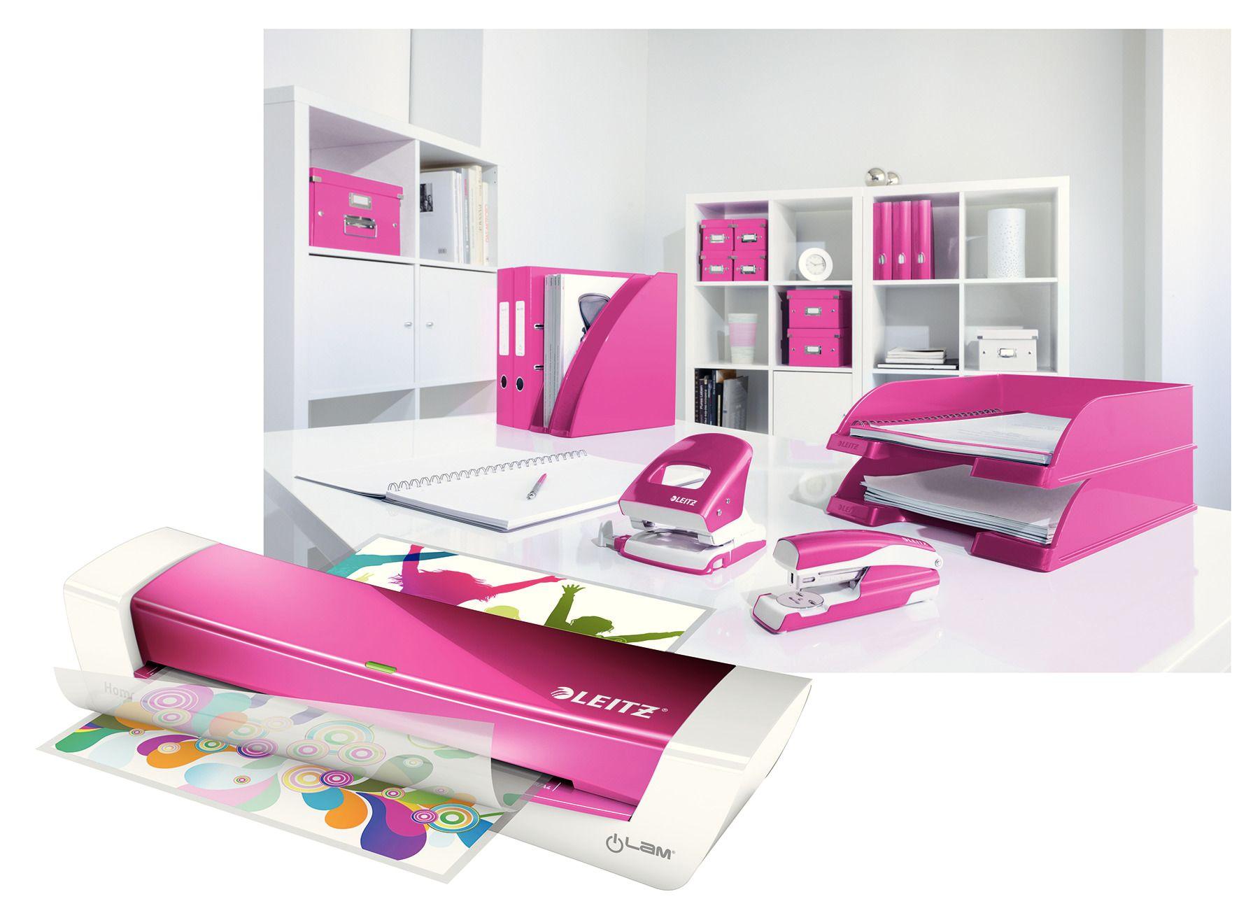 Ламинатор А4 I-lam Home Office, плотность пленки 60 - 125мкм., розов. LEITZ - фото 7