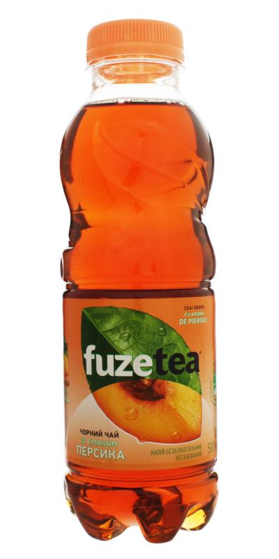 Вода Фьюзти со вкусом Персика 0,5л., пластиковая бутылка, 12шт./уп. Fuzetea - фото 1