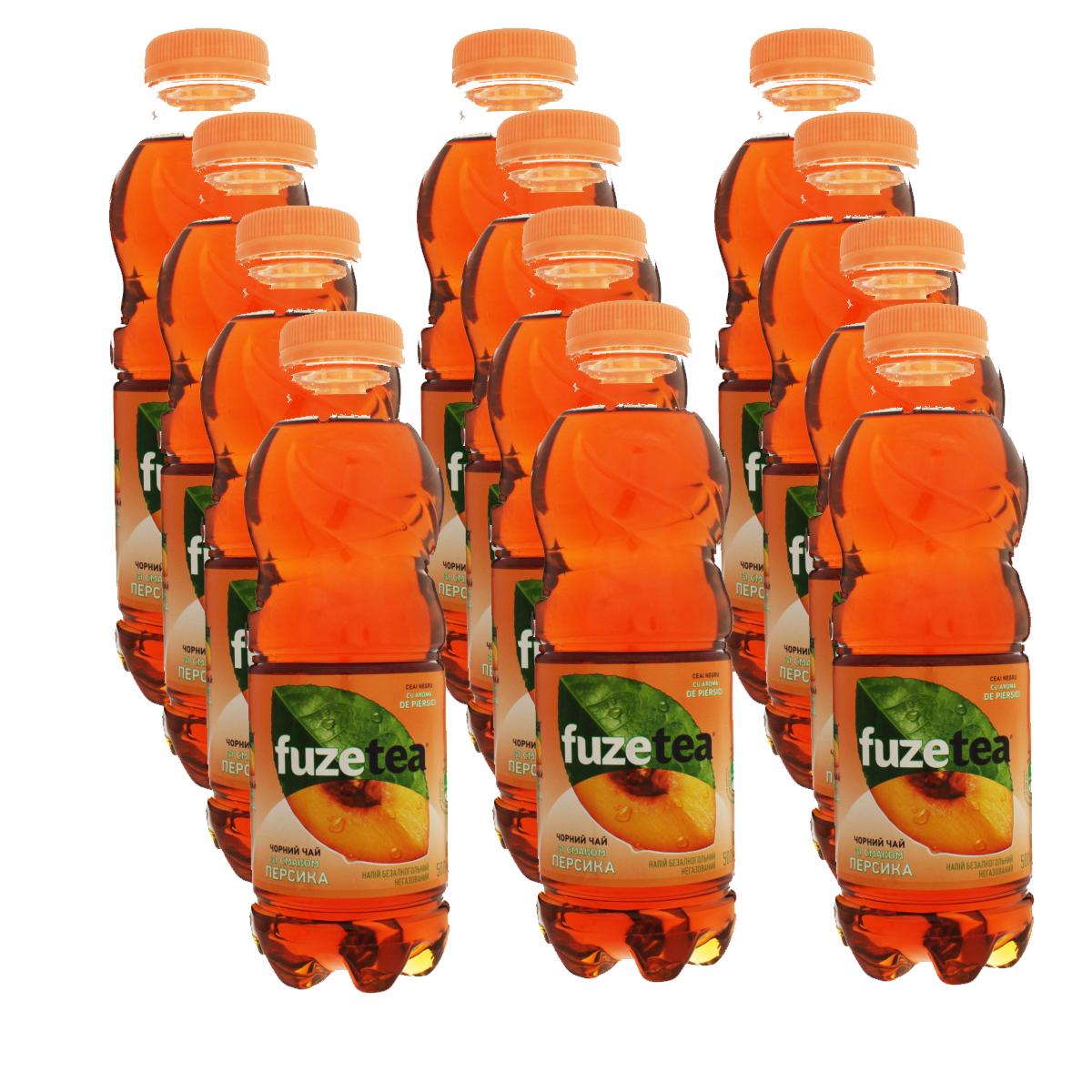 Вода Фьюзти со вкусом Персика 0,5л., пластиковая бутылка, 12шт./уп. Fuzetea - фото 2
