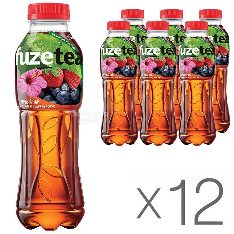 Вода Фьюзти со вкусом Лесных ягод 0,5л., пластиковая бутылка, 12шт./уп. Fuzetea - фото 1