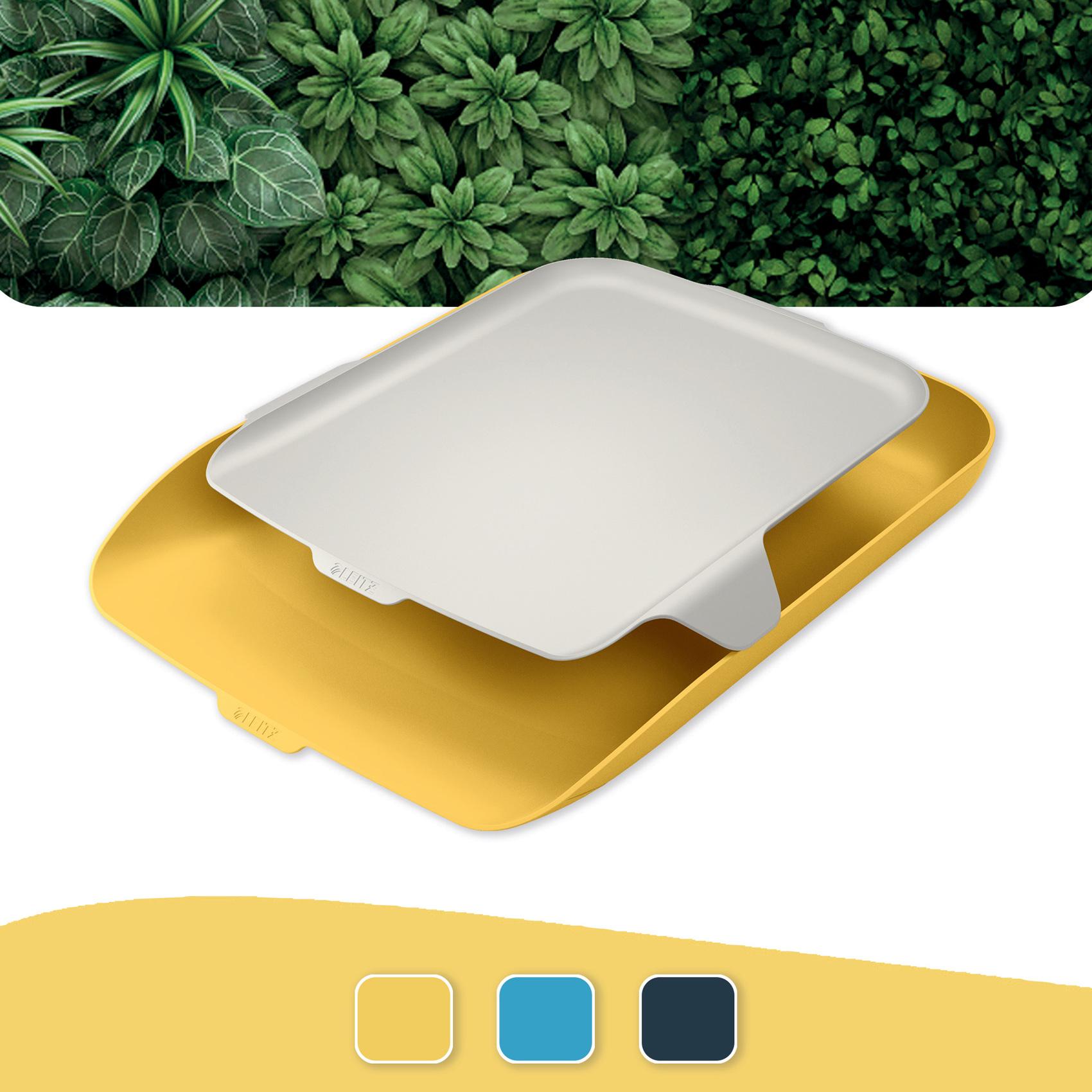 Лоток горизонтальний Leitz Cosy с органайзером, желтый LEITZ - фото 5