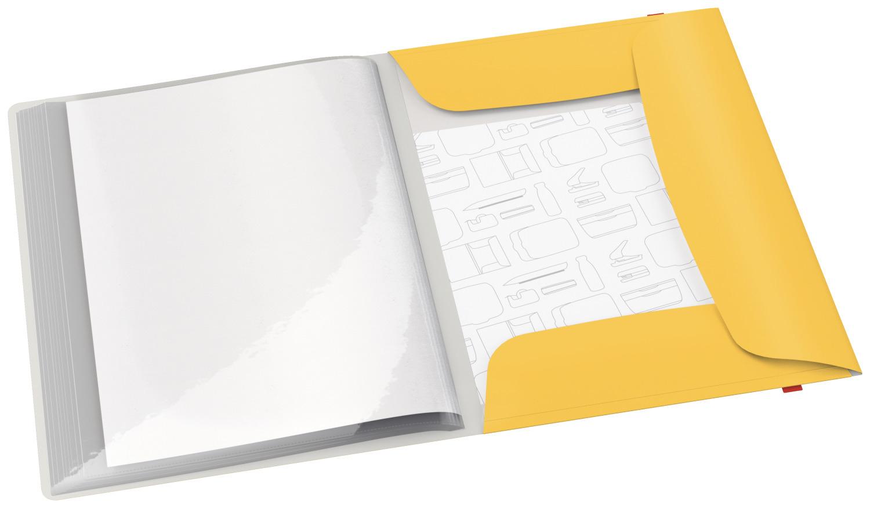 Папка на 20 файлов COSY с тремя клапанами на резинке, желт. LEITZ - фото 2
