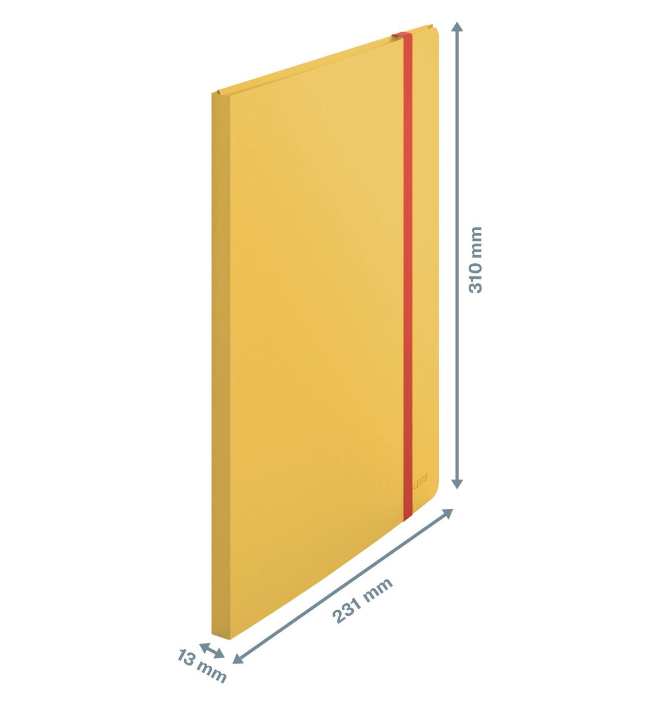Папка на 20 файлов COSY с тремя клапанами на резинке, желт. LEITZ - фото 3