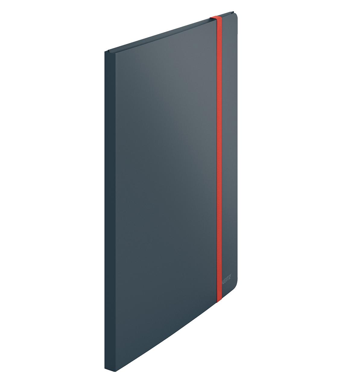 Папка на 20 файлов COSY с тремя клапанами на резинке, серый LEITZ - фото 1
