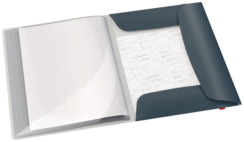 Папка на 20 файлов COSY с тремя клапанами на резинке, серый LEITZ - фото 2