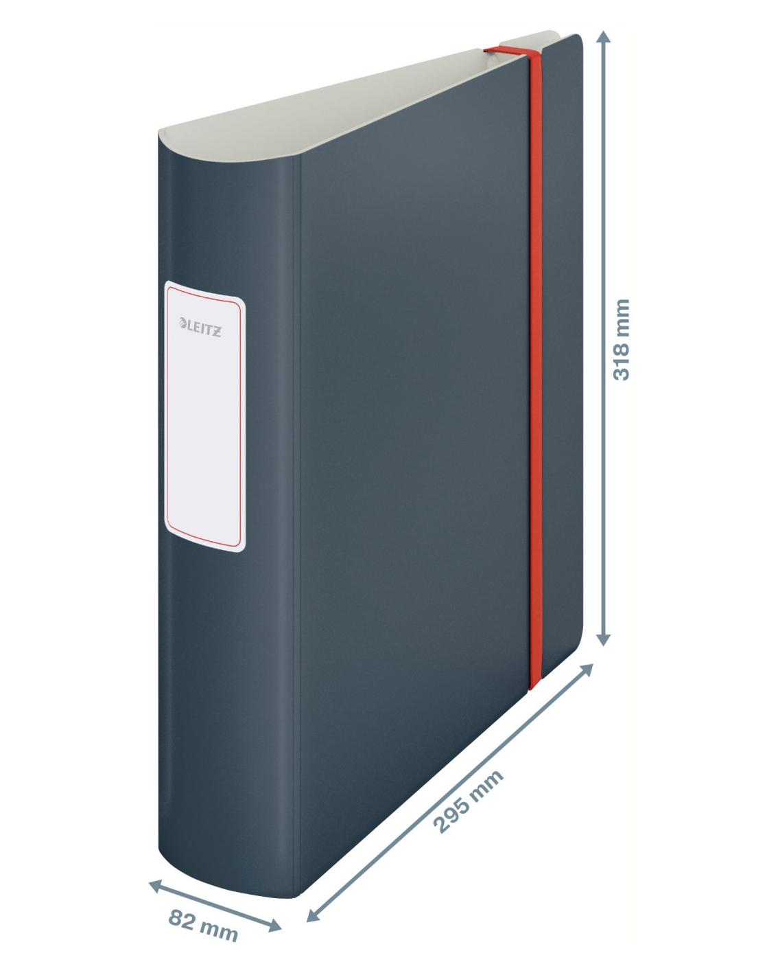 Регистратор 8,2см. А4 (PP) 180 Active Cosy, серый LEITZ - фото 3