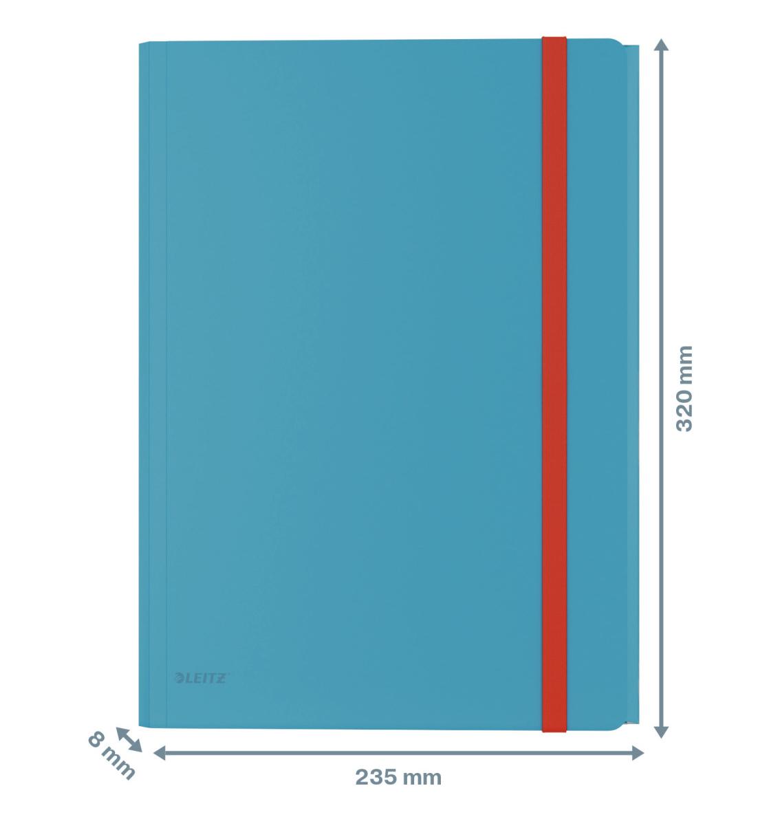 Папка на резинках Leitz Cosy, A4 PP до 150л., с тремя клапанами, син. LEITZ - фото 2
