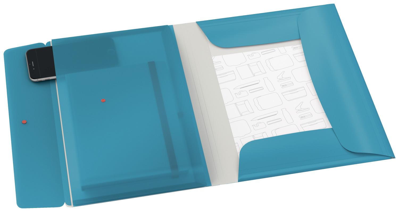 Папка на резинках Leitz Cosy, A4 PP до 150л., с тремя клапанами, син. LEITZ - фото 3